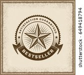 vintage bestseller label.... | Shutterstock .eps vector #649418794