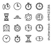 second icons set. set of 16... | Shutterstock .eps vector #649423186