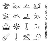 landscape icons set. set of 16... | Shutterstock .eps vector #649423204