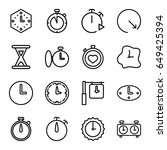 second icons set. set of 16... | Shutterstock .eps vector #649425394