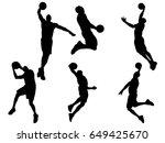 set of basketball player...   Shutterstock .eps vector #649425670