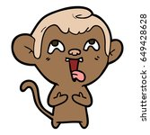 crazy cartoon monkey | Shutterstock .eps vector #649428628