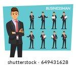 businessman set   vector... | Shutterstock .eps vector #649431628