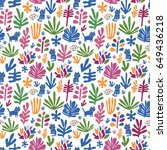 seamless pattern with funny... | Shutterstock .eps vector #649436218