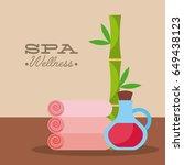 spa utensils illustration | Shutterstock .eps vector #649438123