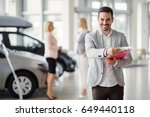 professional salesperson...   Shutterstock . vector #649440118