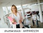 salesperson workin at car...   Shutterstock . vector #649440154