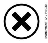 wrong mark minimal style icon...