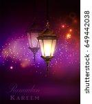 ramadan kareem greetings | Shutterstock .eps vector #649442038