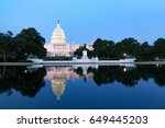 the united states capitol... | Shutterstock . vector #649445203