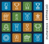 prize icons set. set of 16...   Shutterstock .eps vector #649446160