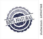 blue 100  natural grunge seal   Shutterstock .eps vector #649447468