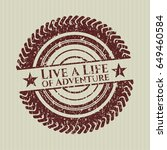 red live a life of adventure...   Shutterstock .eps vector #649460584