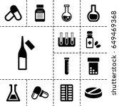 pharmaceutical icon. set of 13... | Shutterstock .eps vector #649469368