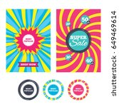 sale banners and labels.... | Shutterstock .eps vector #649469614