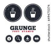 grunge post stamps. hot water...   Shutterstock .eps vector #649475374