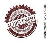 red achievement distress rubber ...   Shutterstock .eps vector #649478008