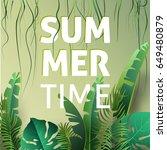 hello summer  summertime. the... | Shutterstock .eps vector #649480879