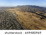Small photo of Aerial view of Newbury Park and the Santa Monica Mountains National Recreation Area in Ventura County, California.