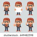 excellent student genius school ... | Shutterstock .eps vector #649482598