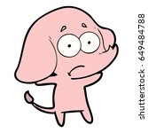 cartoon unsure elephant   Shutterstock .eps vector #649484788