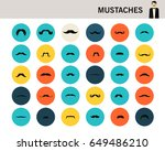 mustaches concept flat icons.  | Shutterstock .eps vector #649486210