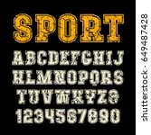 serif font in sport style with... | Shutterstock .eps vector #649487428