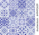 traditional ornate portuguese... | Shutterstock .eps vector #649492639