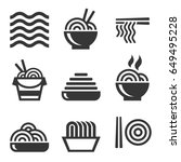 noodle icons. asian food bar... | Shutterstock . vector #649495228
