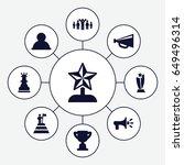 Leadership Icons Set. Set Of 9...