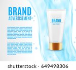 cosmetic ads template.... | Shutterstock .eps vector #649498306