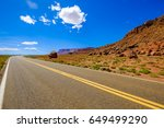 Rural Highway Landscape Along...