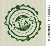green please distress rubber...   Shutterstock .eps vector #649500814