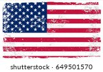 grunge american flag.vintage...   Shutterstock .eps vector #649501570