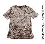 Small photo of brown velour dress. Isolate on white background