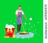 cleaning service background... | Shutterstock .eps vector #649504579