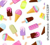 different ice creams... | Shutterstock .eps vector #649512289
