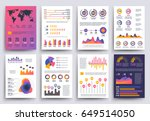 graphical business report... | Shutterstock .eps vector #649514050