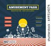 vector amusement park theme... | Shutterstock .eps vector #649514074
