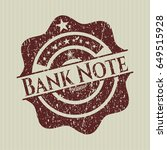 red bank note rubber grunge...   Shutterstock .eps vector #649515928
