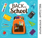 back to school poster. kids... | Shutterstock .eps vector #649517386