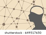 silhouette of a man's head.... | Shutterstock . vector #649517650
