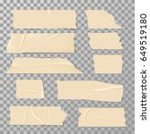 adhesive sticky tape isolated... | Shutterstock .eps vector #649519180