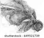 grayscale triangular background ... | Shutterstock . vector #649521739