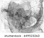 grayscale triangular background ... | Shutterstock . vector #649523263