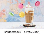 crazy coffee cocktail and... | Shutterstock . vector #649529554