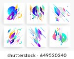 set of geometric abstract... | Shutterstock .eps vector #649530340