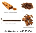 collection of christmas spices | Shutterstock . vector #64953304