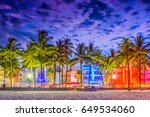 miami beach  florida  usa on... | Shutterstock . vector #649534060