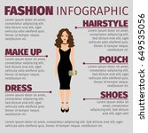 fashion infographic with lady... | Shutterstock .eps vector #649535056